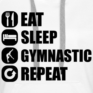 eat_sleep_gymnastic_repeat_4_1f Gensere - Premium hettegenser for kvinner