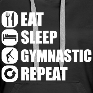 eat_sleep_gymnastic_repeat_4_1f Pullover & Hoodies - Frauen Premium Hoodie