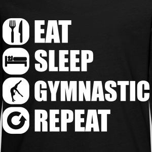 eat_sleep_gymnastic_repeat_4_1f Langarmshirts - Teenager Premium Langarmshirt