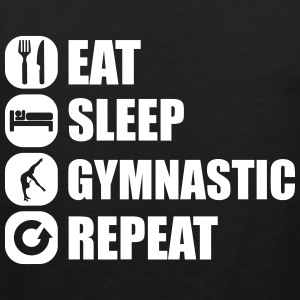 eat_sleep_gymnastic_repeat_4_1f Tanktops - Mannen Premium tank top