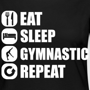 eat_sleep_gymnastic_repeat_4_1f Skjorter med lange armer - Premium langermet T-skjorte for kvinner