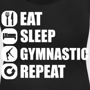 eat_sleep_gymnastic_repeat_4_1f T-shirts - Dame-T-shirt med U-udkæring