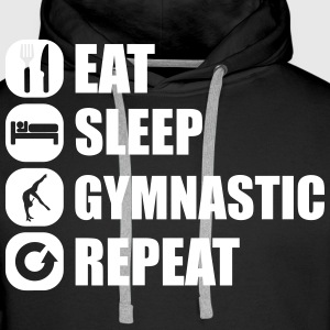eat_sleep_gymnastic_repeat_4_1f Sweat-shirts - Sweat-shirt à capuche Premium pour hommes