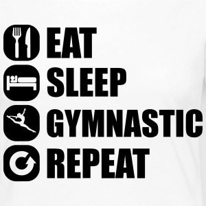 eat_sleep_gymnastic_repeat_2_1f Skjorter med lange armer - Premium langermet T-skjorte for kvinner