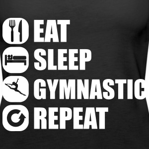eat_sleep_gymnastic_repeat_2_1f Top - Canotta premium da donna