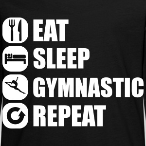 eat_sleep_gymnastic_repeat_2_1f Manches longues - T-shirt manches longues Premium Ado