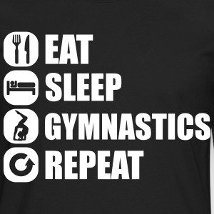 eat_sleep_gym_repeat_341f Skjorter med lange armer - Premium langermet T-skjorte for menn