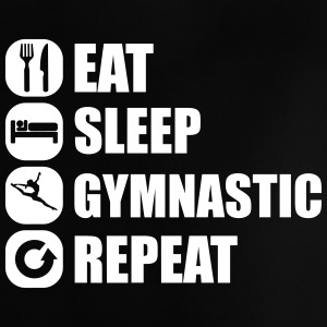 eat_sleep_gymnastic_repeat_2_1f Camisetas - Camiseta bebé