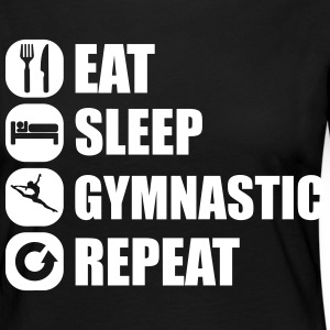 eat_sleep_gymnastic_repeat_2_1f Langarmshirts - Frauen Premium Langarmshirt