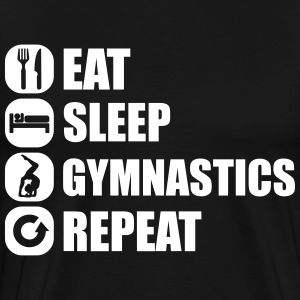 eat_sleep_gym_repeat_341f T-shirts - Herre premium T-shirt