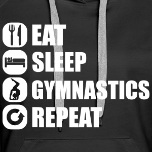 eat_sleep_gym_repeat_341f Sweat-shirts - Sweat-shirt à capuche Premium pour femmes