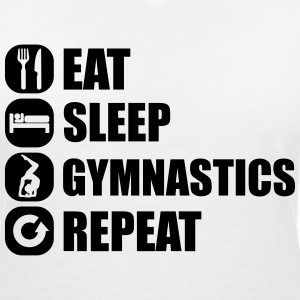 eat_sleep_gym_repeat_341f T-shirts - Vrouwen T-shirt met V-hals