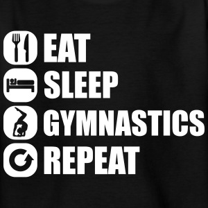 eat_sleep_gym_repeat_341f T-shirts - T-shirt tonåring