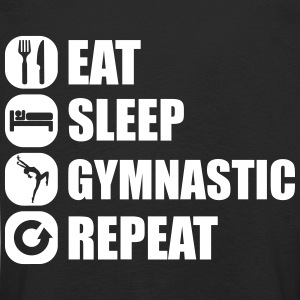 eat_sleep_gymnastic_repeat_1_1f Langarmede T-skjorter - Premium langermet T-skjorte for barn