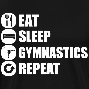 eat_sleep_gym_repeat_1_1f T-shirts - Premium-T-shirt herr