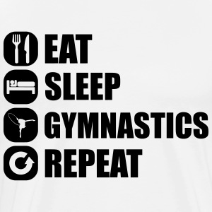 eat_sleep_gym_repeat_1_1f T-shirts - Mannen Premium T-shirt