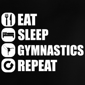 eat_sleep_gym_repeat_1_1f Skjorter - Baby-T-skjorte