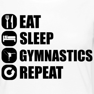 eat_sleep_gym_repeat_1_1f Langærmede T-shirts - Dame premium T-shirt med lange ærmer
