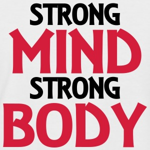 Strong Mind - Strong Body T-Shirts - Männer Baseball-T-Shirt