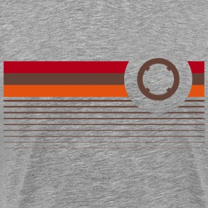 Retro bryst ring T-shirts - Herre premium T-shirt