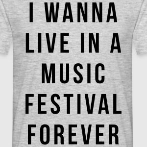 Live Music Festival  Tee shirts - T-shirt Homme