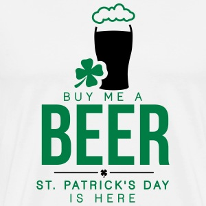 Buy me a beer, St. Patrick's day is here T-shirts - Premium-T-shirt herr