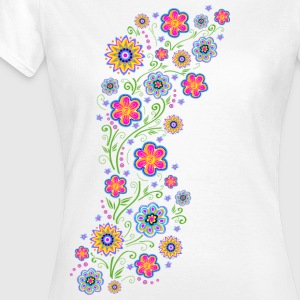Spring flowers, summer, garden, nature, beautiful T-shirts - Dame-T-shirt