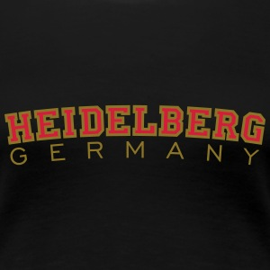 Heidelberg Germany T-Shirt (Damen Schwarz/Rot/Gold - Frauen Premium T-Shirt