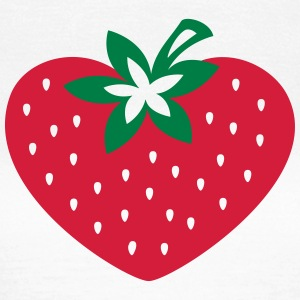 Strawberry heart, vegan, organic, vegetarian, eco T-Shirts - Women's T-Shirt