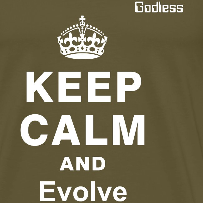 Keep Calm Evolve Black
