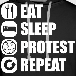 eat_sleep_fuck_protest_22_1f Sweaters - Mannen Premium hoodie