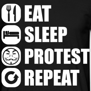 eat_sleep_fuck_protest_22_1f T-Shirts - Men's T-Shirt