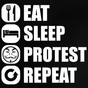 eat_sleep_fuck_protest_22_1f Camisetas - Camiseta bebé