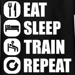 eat_sleep_train_repeat_16_1f Camisetas - Camiseta niño