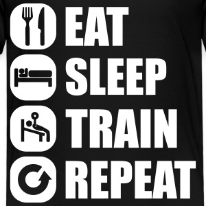 eat_sleep_train_repeat_16_1f T-shirts - Premium-T-shirt barn
