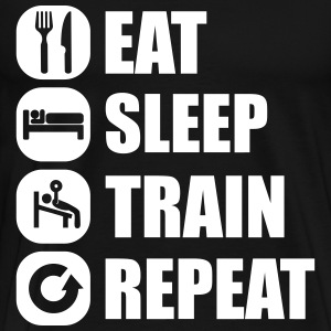 eat_sleep_train_repeat_16_1f Magliette - Maglietta Premium da uomo