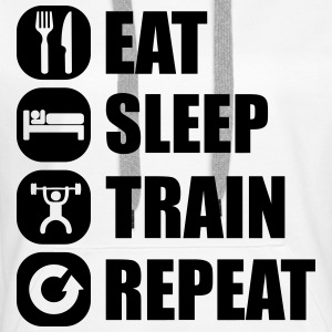 eat_sleep_train_repeat Pullover & Hoodies - Frauen Premium Hoodie