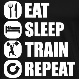 eat_sleep_train_repeat T-Shirts - Männer Premium T-Shirt