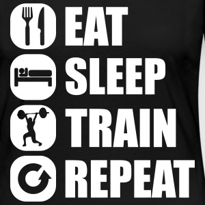 eat_sleep_train_repeat_14_1f Long Sleeve Shirts - Women's Premium Longsleeve Shirt