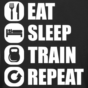 eat_sleep_train_repeat_12_1f Langærmede shirts - Børne premium T-shirt med lange ærmer