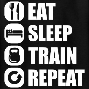eat_sleep_train_repeat T-Shirts - Teenager T-Shirt