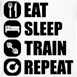 eat_sleep_train_repeat_11_1f T-shirts - T-shirt med v-ringning herr