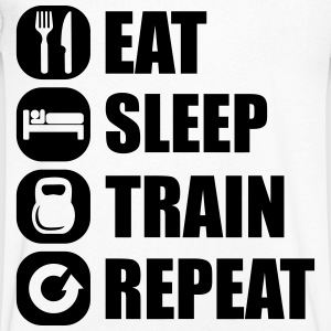 eat_sleep_train_repeat_12_1f T-Shirts - Men's V-Neck T-Shirt