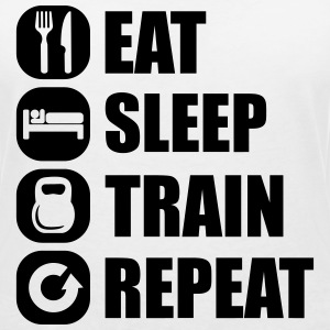 eat_sleep_train_repeat_12_1f Camisetas - Camiseta con escote en pico mujer
