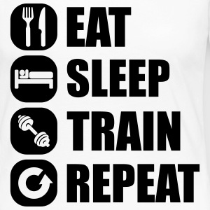 eat_sleep_train_repeat_11_1f Long Sleeve Shirts - Women's Premium Longsleeve Shirt