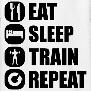 eat_sleep_train_repeat_10_1f Camisetas - Camiseta niño