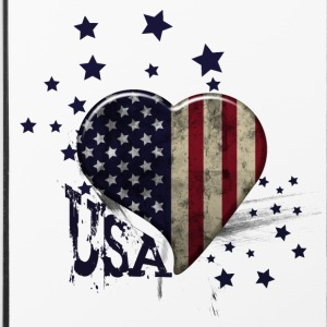 usa grunge coeur étoiles  Phone & Tablet Cases - iPhone 4/4s Hard Case
