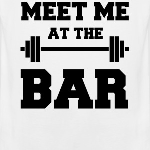 Meet me at the Bar - Funny White Gym Tank Top - Männer Premium Tank Top