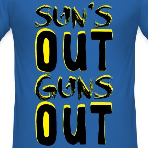 Guns Out T-Shirts - Men's Slim Fit T-Shirt