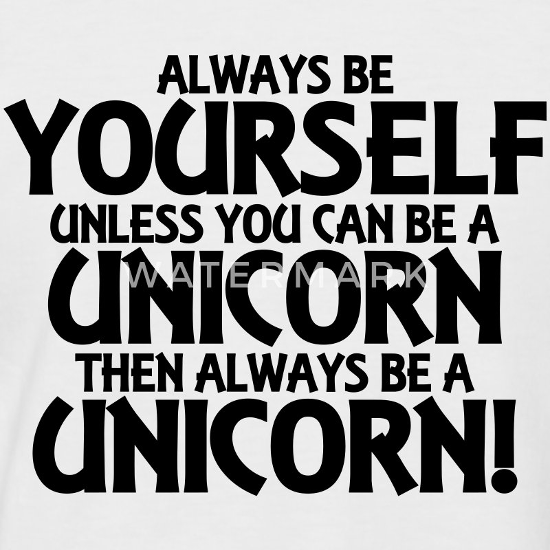 Always be yourself, unless you can be a unicorn T-shirts - Kortärmad basebolltröja herr